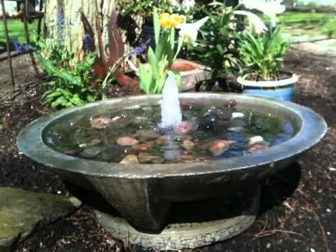 Garden Fountain Large Mirror Fountain, Cast Stone Japanese Water Feature  Comes With Fountain Dish, Pad And Fountain Pump.