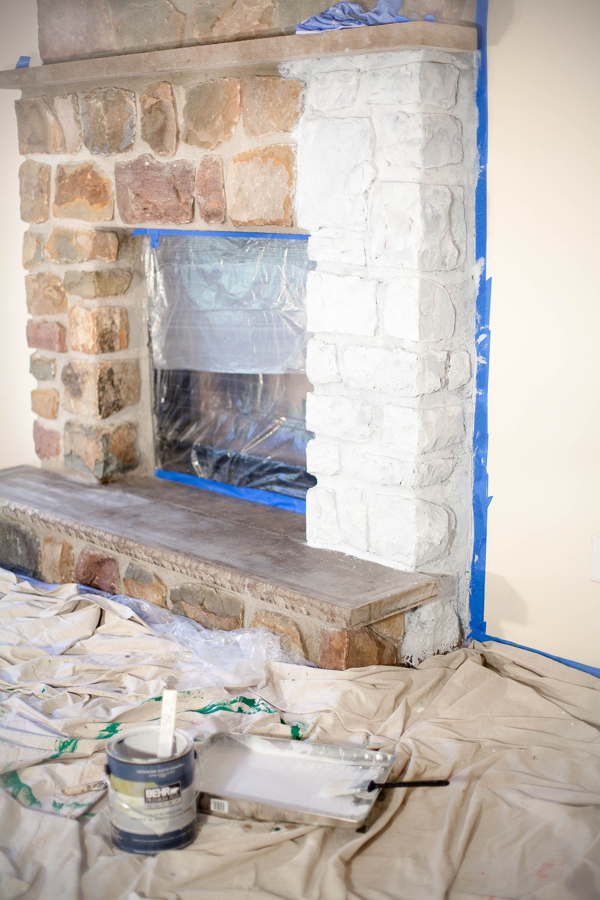 how to whitewash a stone fireplace coffee with summer blog stone rh pinterest com
