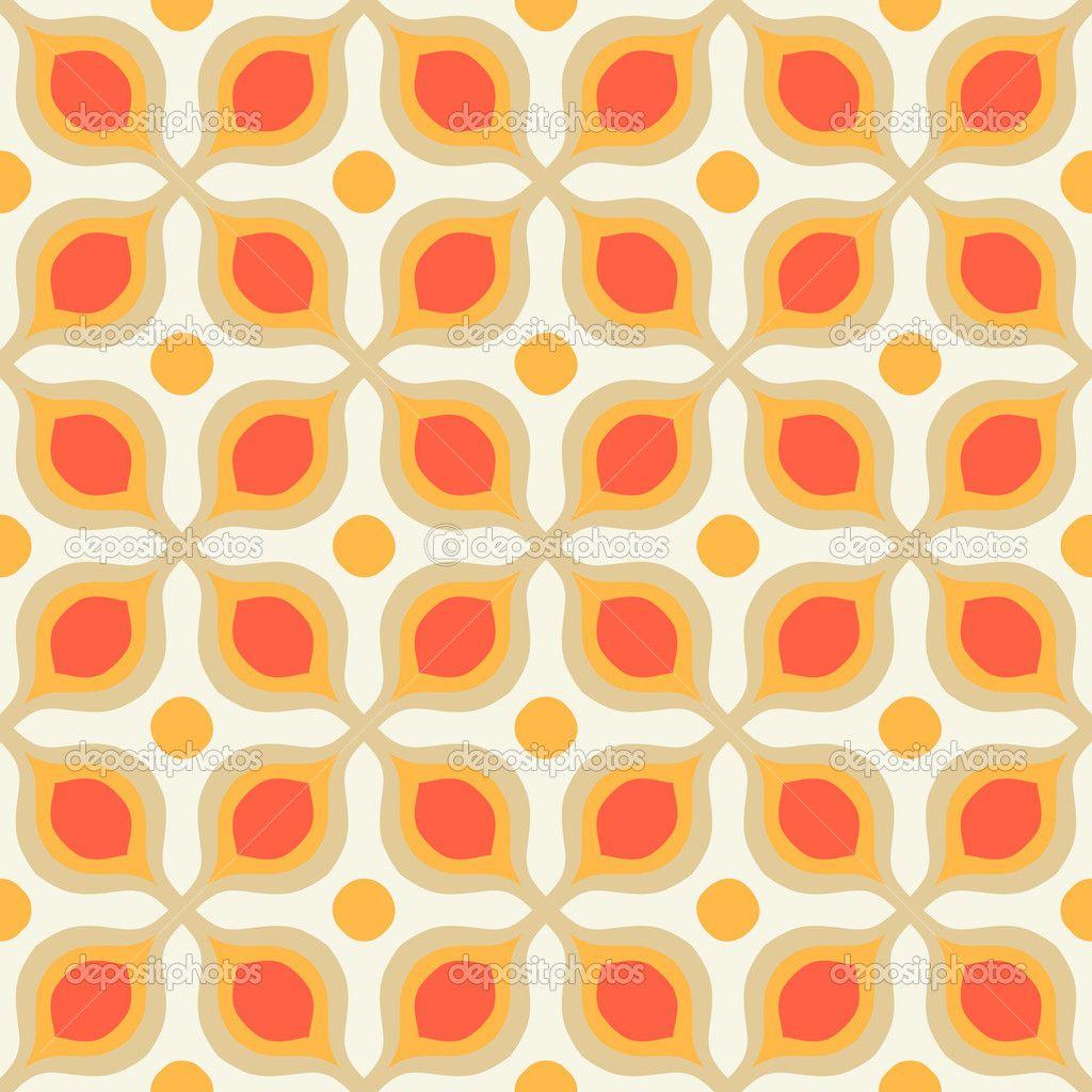 Muster Mit Fett Geometrische Formen Im 70er Jahre Stil 70er Jahre Stil Geometrisch Geometrische Formen