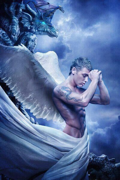 Sexy blue male angel   Angels are Glorious~Fantasy   Male angels