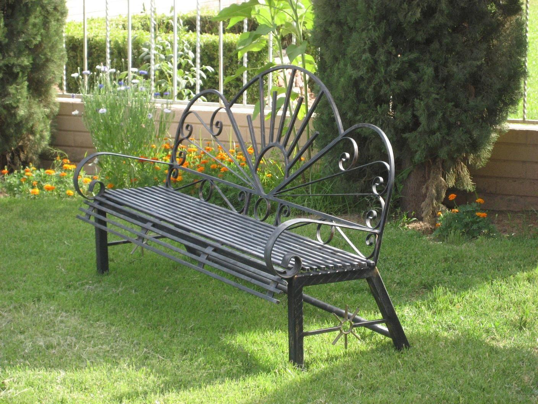 Banco de hierro para jardin 001 mobiliario para el jardin en madera y hierro pinterest image - Bancos de hierro para jardin ...