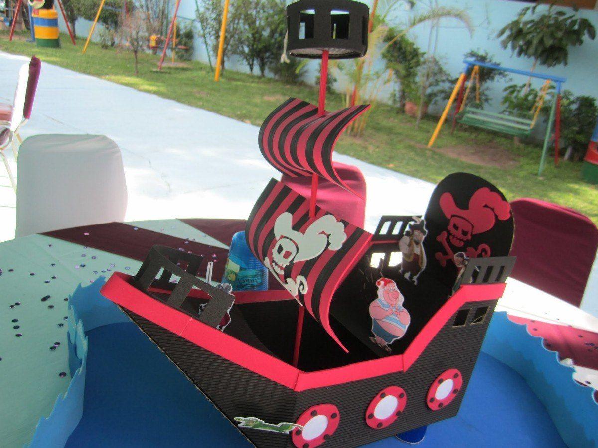 Decoraci n jake y los piratas de nunca jam s pictures to pin on - Dulceros Fiesta Pirata Cofre Barco Jake Y Los Piratas