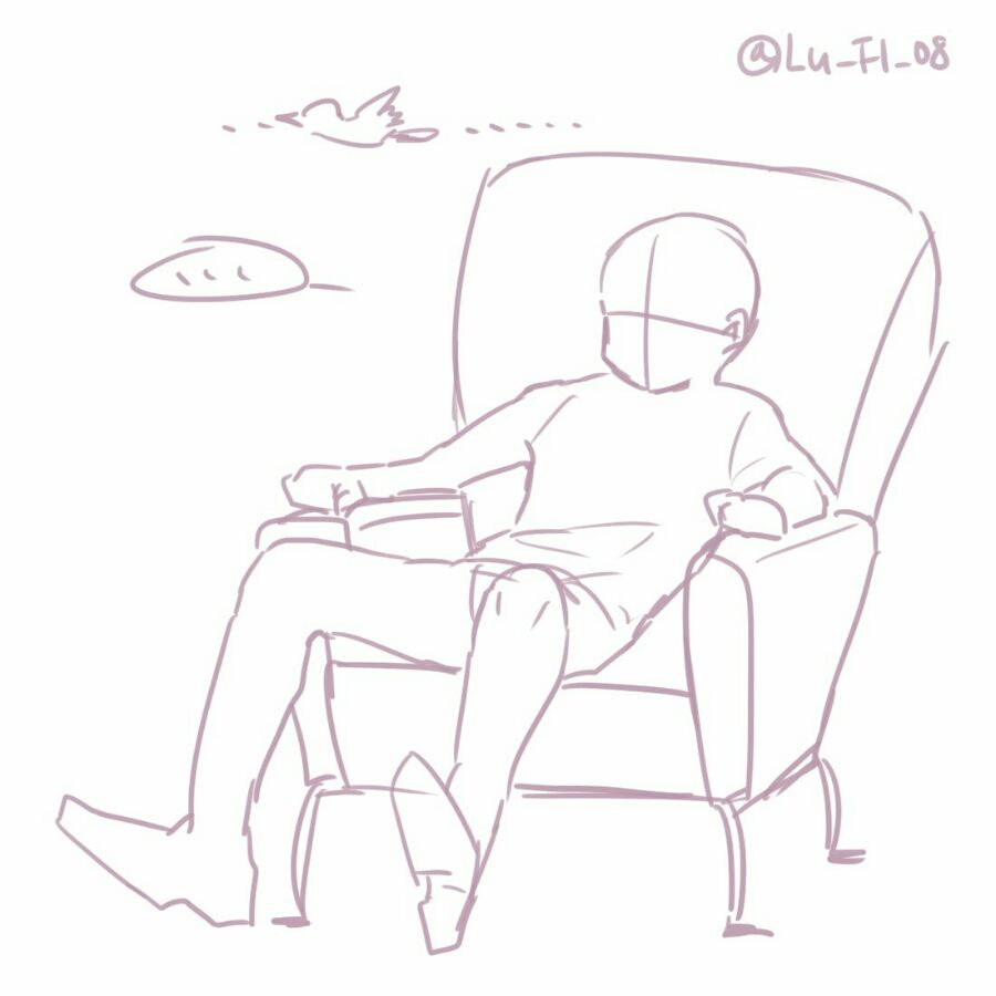 트레이싱자료 13 #ChairDrawing | Art reference poses, Drawing ...