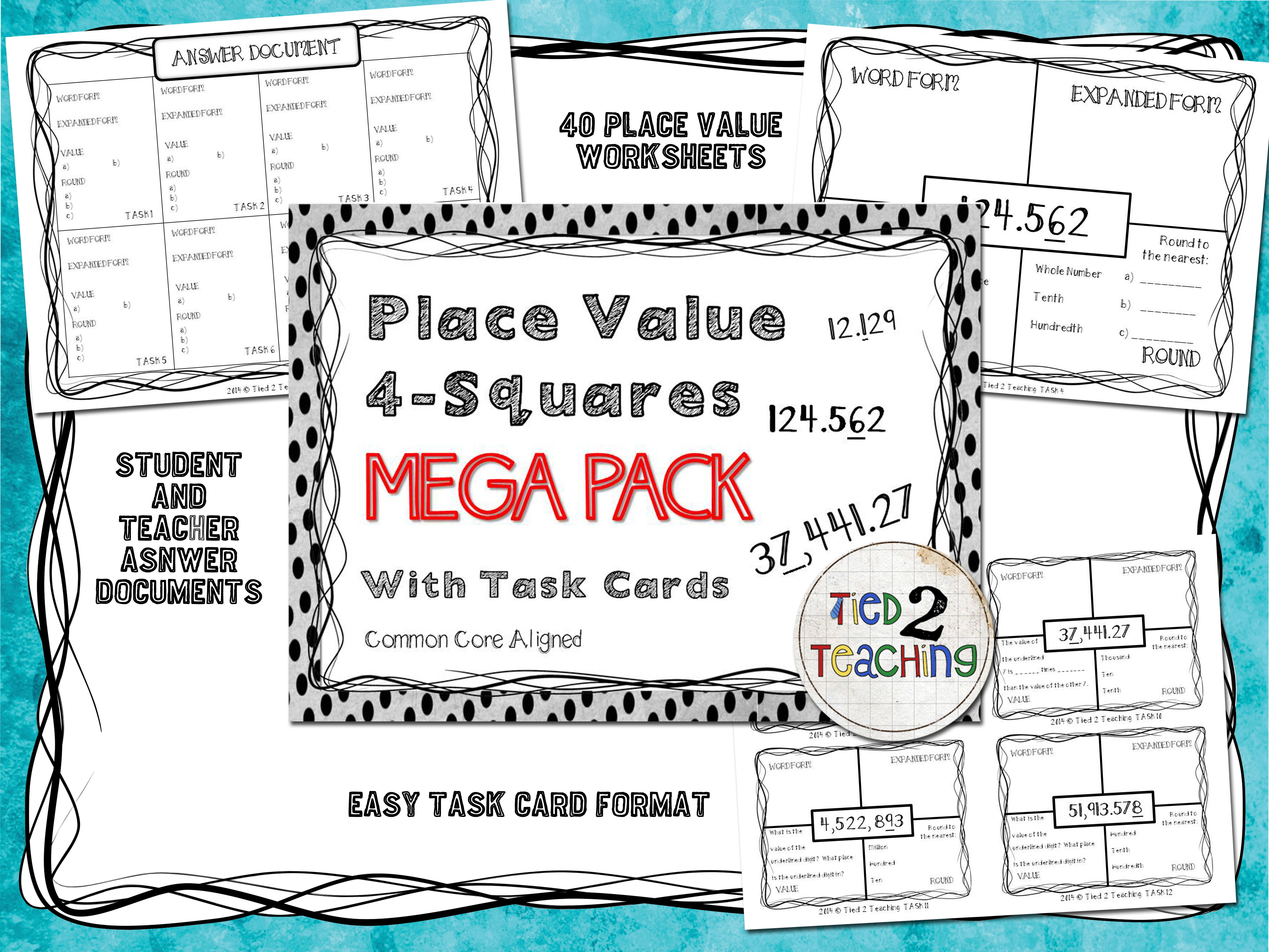 He Place Value 4 Square Mega Pack Is An Excellent Resource