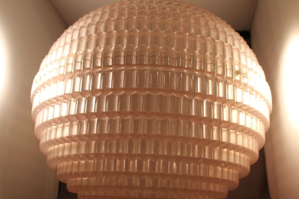 70er Jahre Grosse Ufo Deckenlampe Lampe 70s Ceiling Hanging Lamp 60er