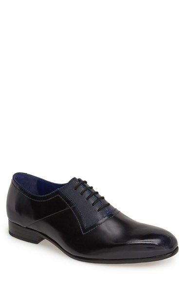 Men's Ted Baker London 'Haari' Leather Plain Toe Oxford