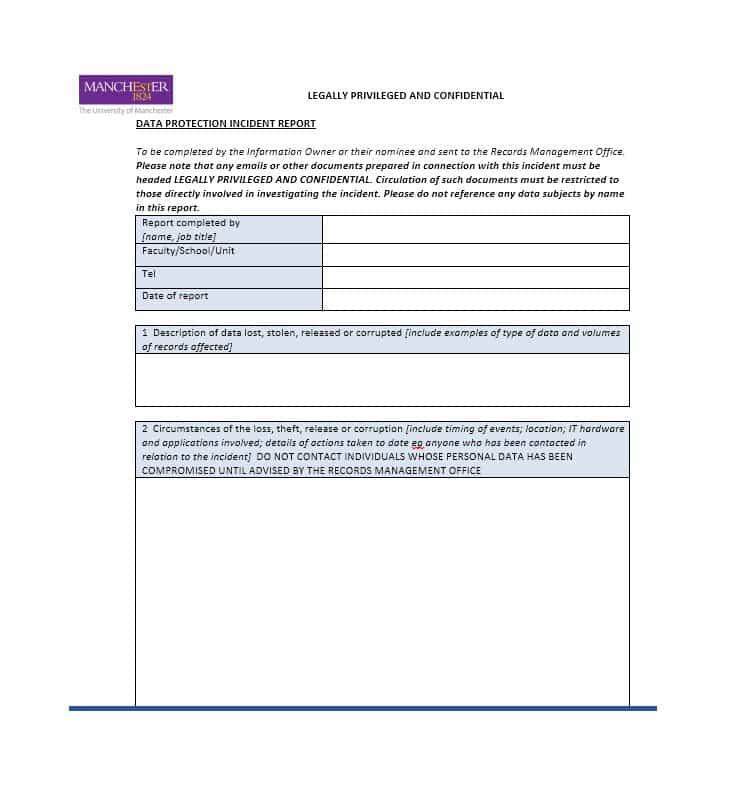 School Incident Report Template 2 Templates Example Templates Example Report Template Incident Report Templates