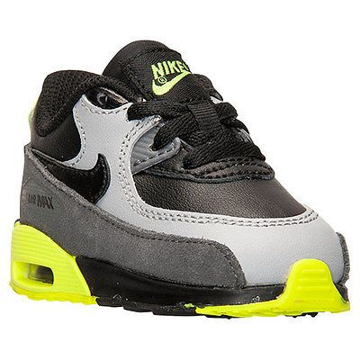 Nike Air Max 90 Ltr Td Toddler 724823 002 Noir Gris Chaussures Baskets