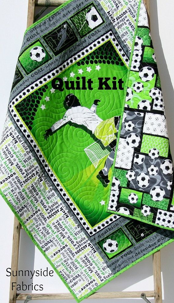 Soccer quilt kit sports diy do it yourself by sunnysidefabrics soccer quilt kit sports diy do it yourself by sunnysidefabrics solutioingenieria Images