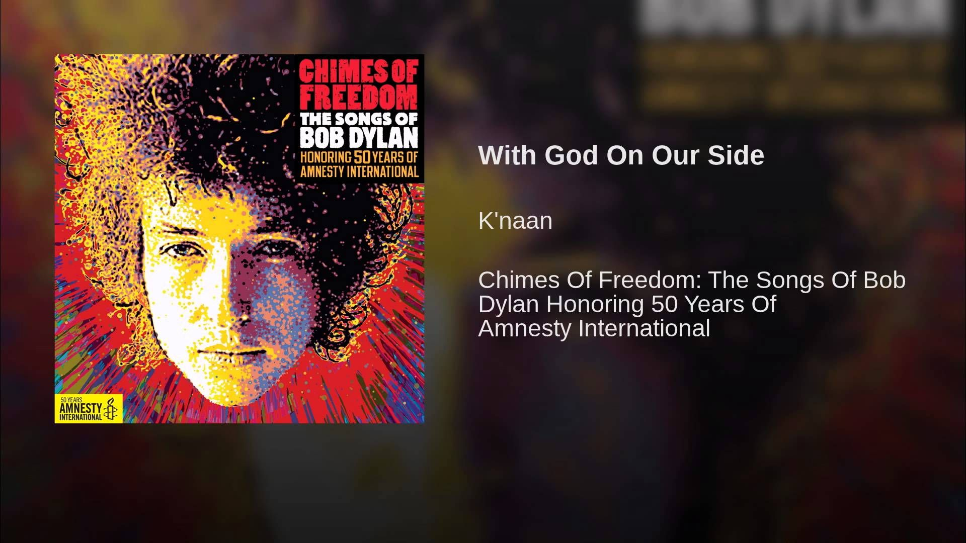 With God On Our Side Youtube Bob Songs Bob Dylan Song Book