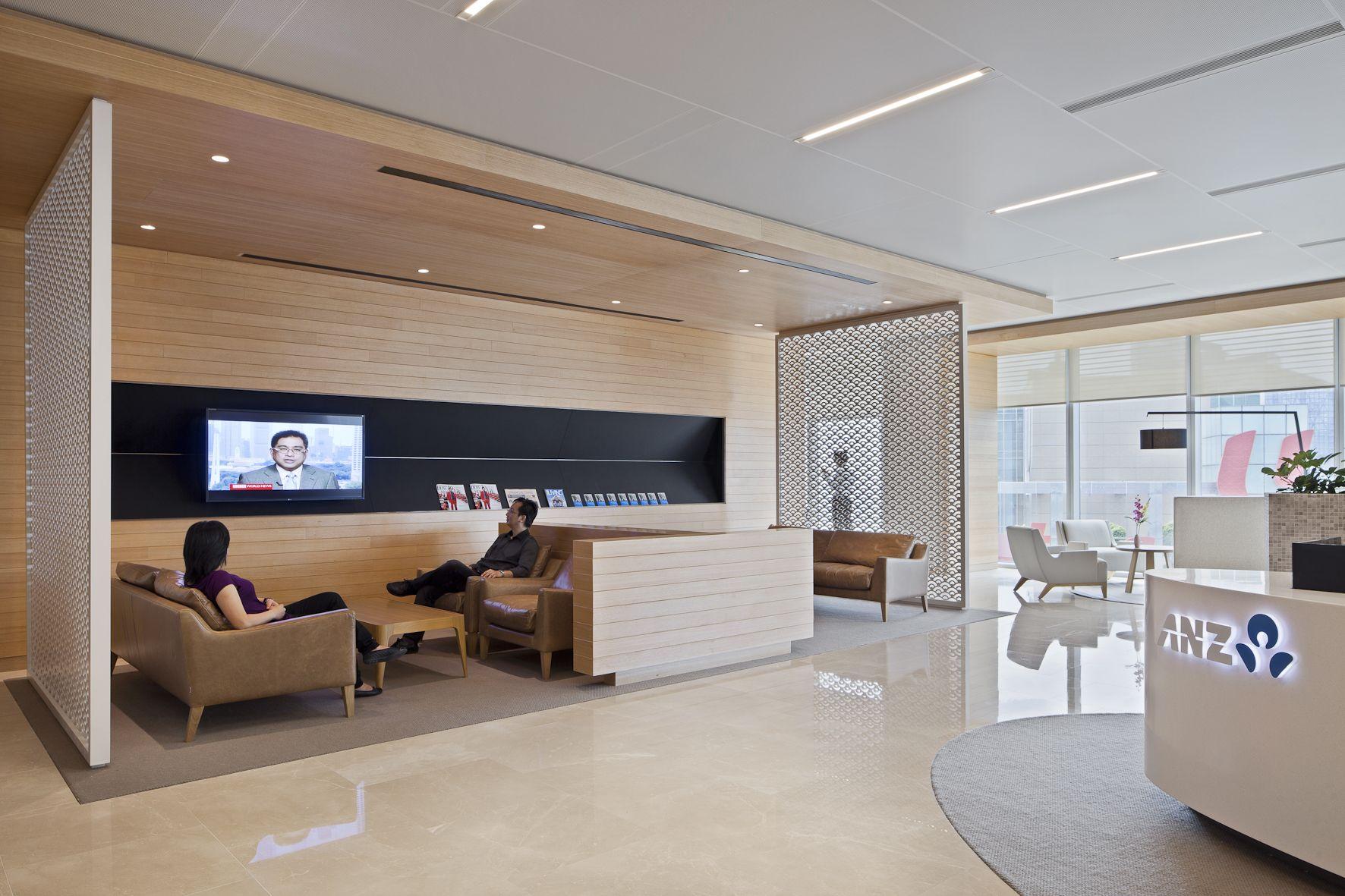 Anz Office Office Interior Design Corporate Interiors Lobby Design