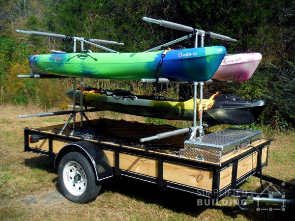 Build Your Own Kayak Trailer No Welding Or Cutting