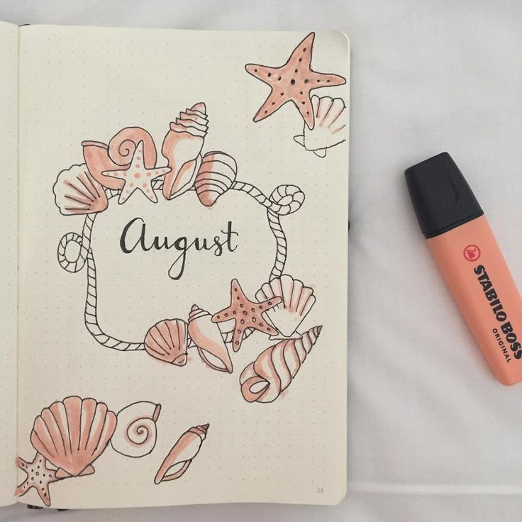 "194 curtidas, 6 comentários - — Bullet / Art Journal (@glitteryjournal) no Instagram: ""Hii it's me again - This Page is inspired by @amandarachdoodles Love you so much!! - Also das…"" #augustbulletjournal"