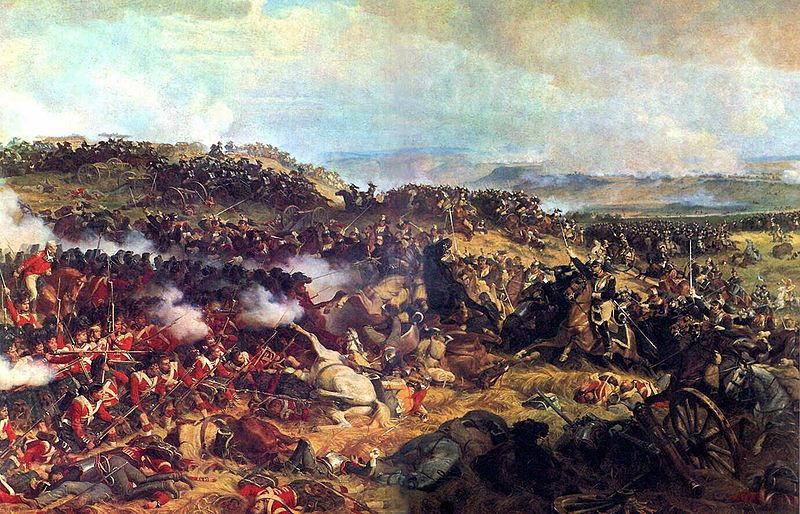 Charge of the French Cuirassiers at Waterloo. This Day in History: Jun 18, 1815: Napoleon defeated at Waterloo - http://dingeengoete.blogspot.com/2013/06/this-day-in-history-jun-18-1815.html