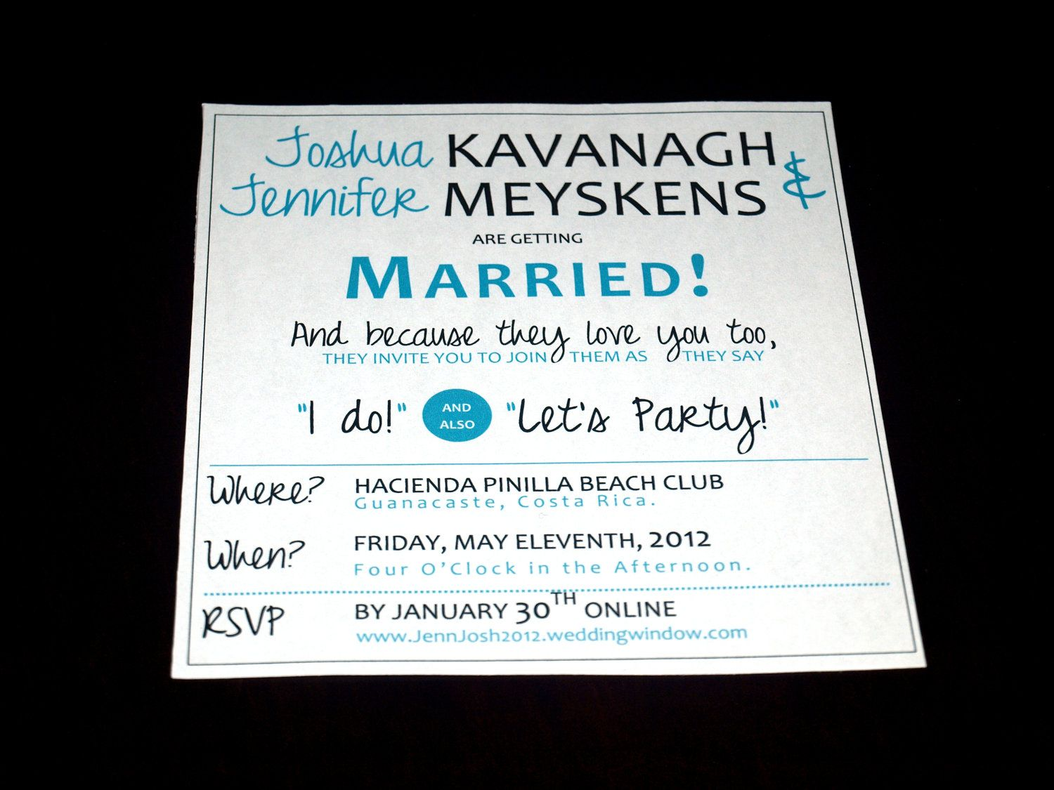 Fun & Modern Wedding Invitation Template. $15.99, via Etsy ...