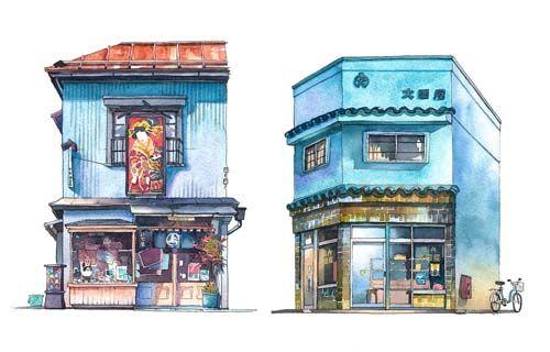 冷静に東京の風景を見ると新しい建築と古い建築が同居し マテウシュが
