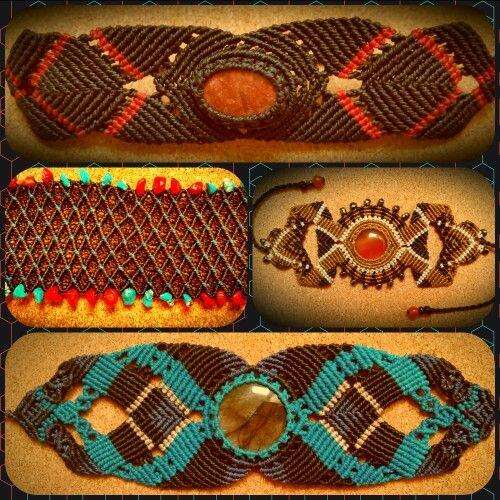 My original works :) micro macrame bracelets.