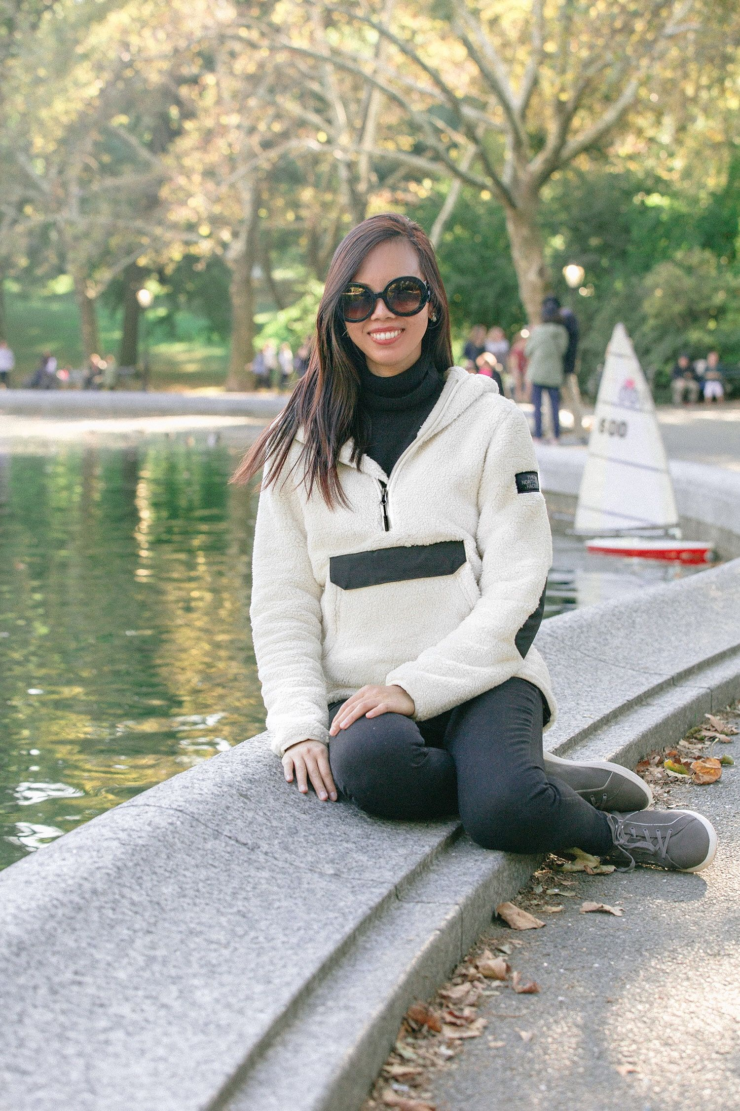 new styles 54c55 d8ff7 Boating in Central Park with The North Face Campshire Fleece ...