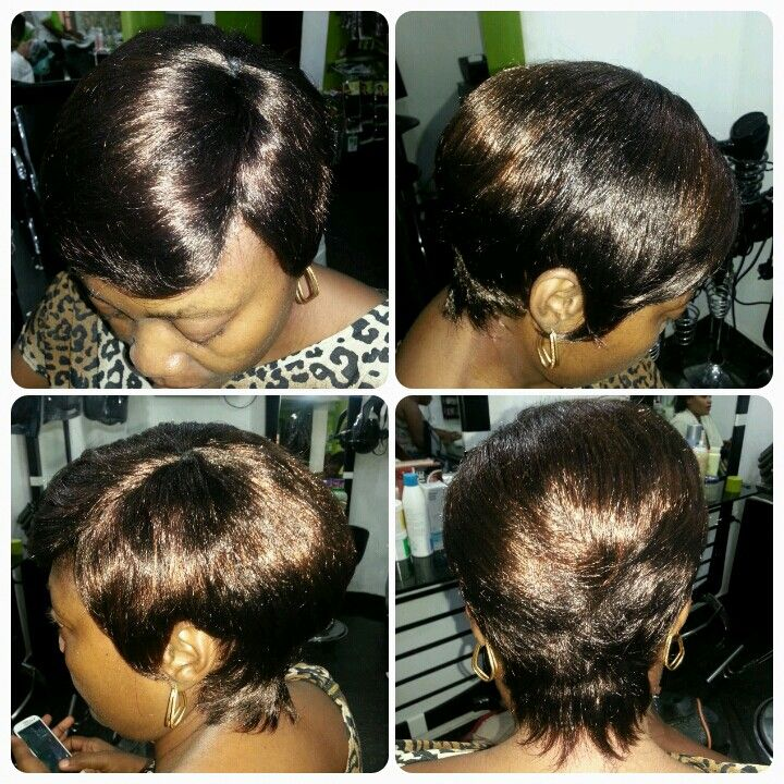 Short Hair Style Done With Afro B Weave By Hairxetera Short Hair Styles Hair Styles Afro