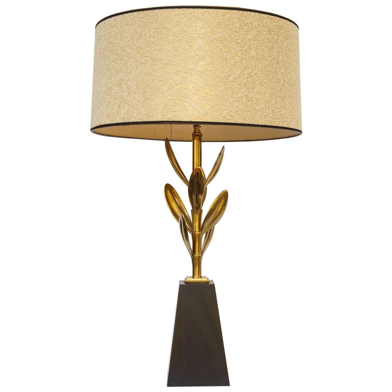 70's Mid Century Modern Stiffel Brass Sedum Lamp Lamp