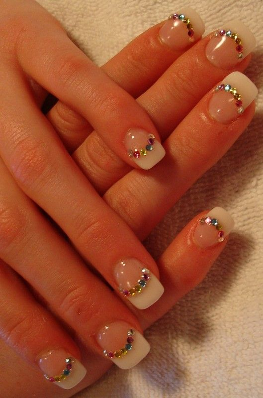 Gel Nails | Jewels Gel Nails Pictures | nails | Pinterest | Nail ...