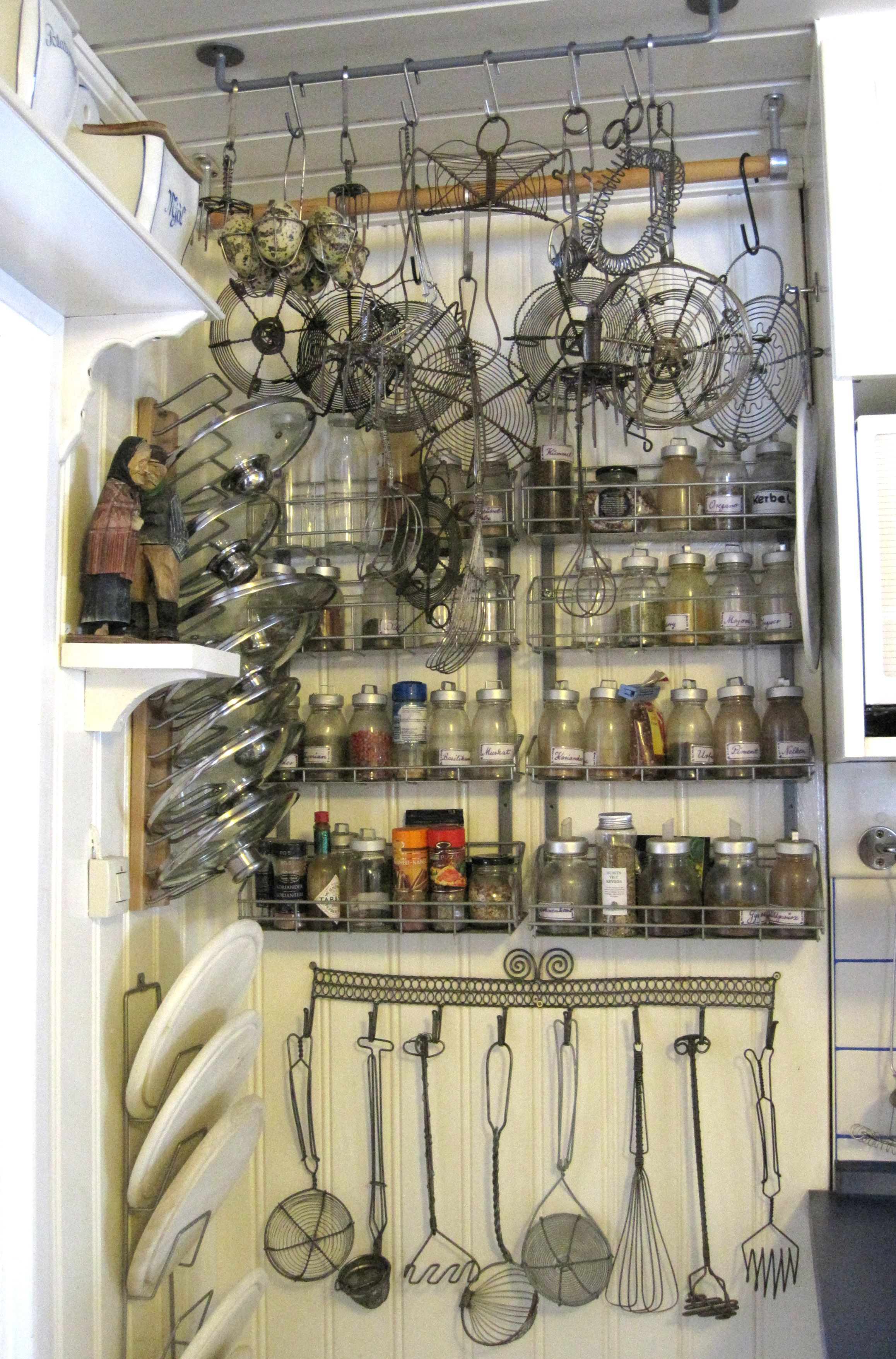 Küchendekoration alte drahtkunst als küchendekoration sammlungen und deko für meine