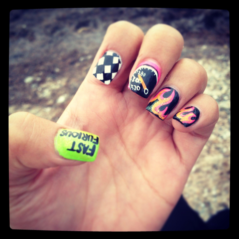 Fast & furious nail art | Nails | Pinterest | Fun nails