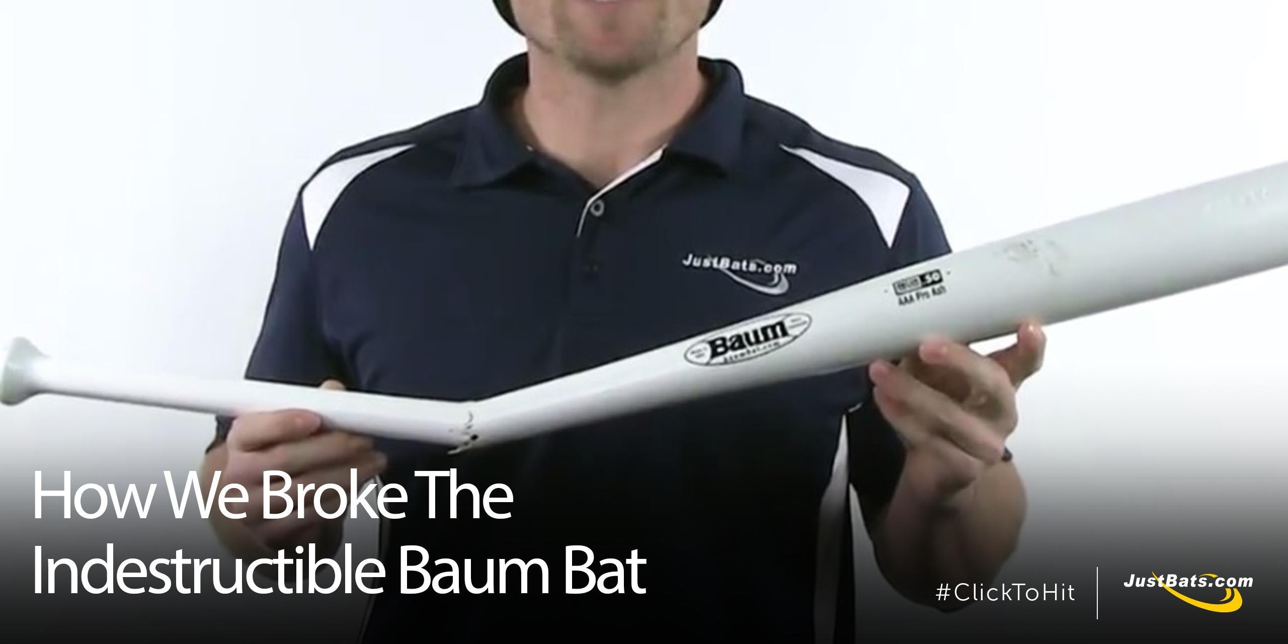 How We Broke The Indestructible Baum Bat Bat Baseball Bat Broken