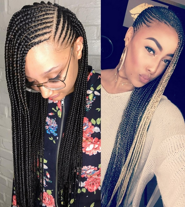 25 Adorable Lemonade Braids To Rock Your Look Hairstyles 2020 2021 In 2020 Lemonade Braids Hairstyles Hair Styles Braided Hairstyles