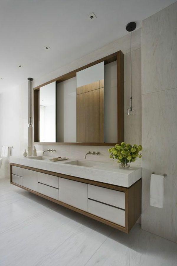 Waschbeckenschrank Aus Holz Elegantes Mobelstuck Im Bad Waschbeckenschrank Moderne Badezimmerspiegel Modernes Badezimmer