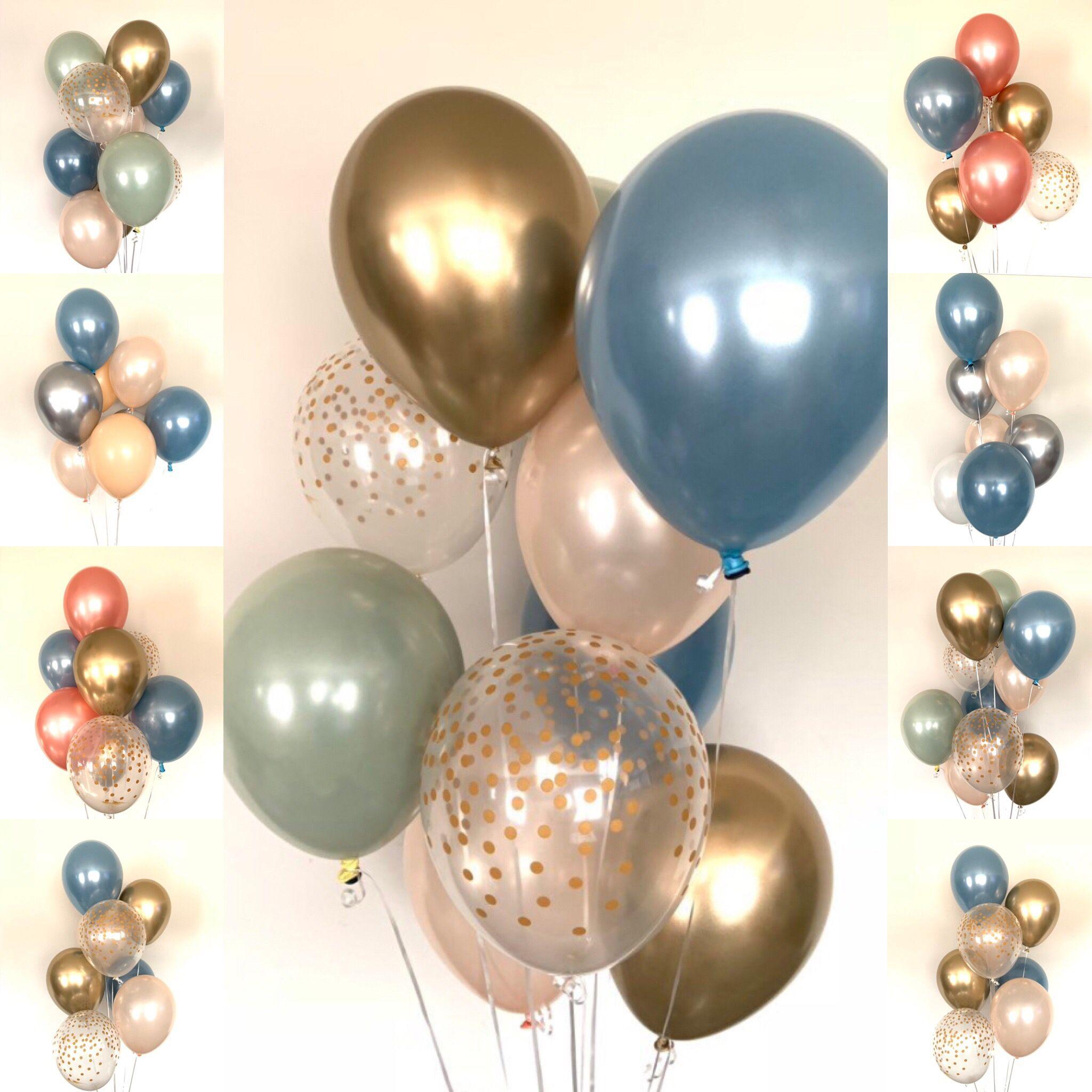Slate Blue Balloons Slate Blue Wedding Decor Slate Blue And