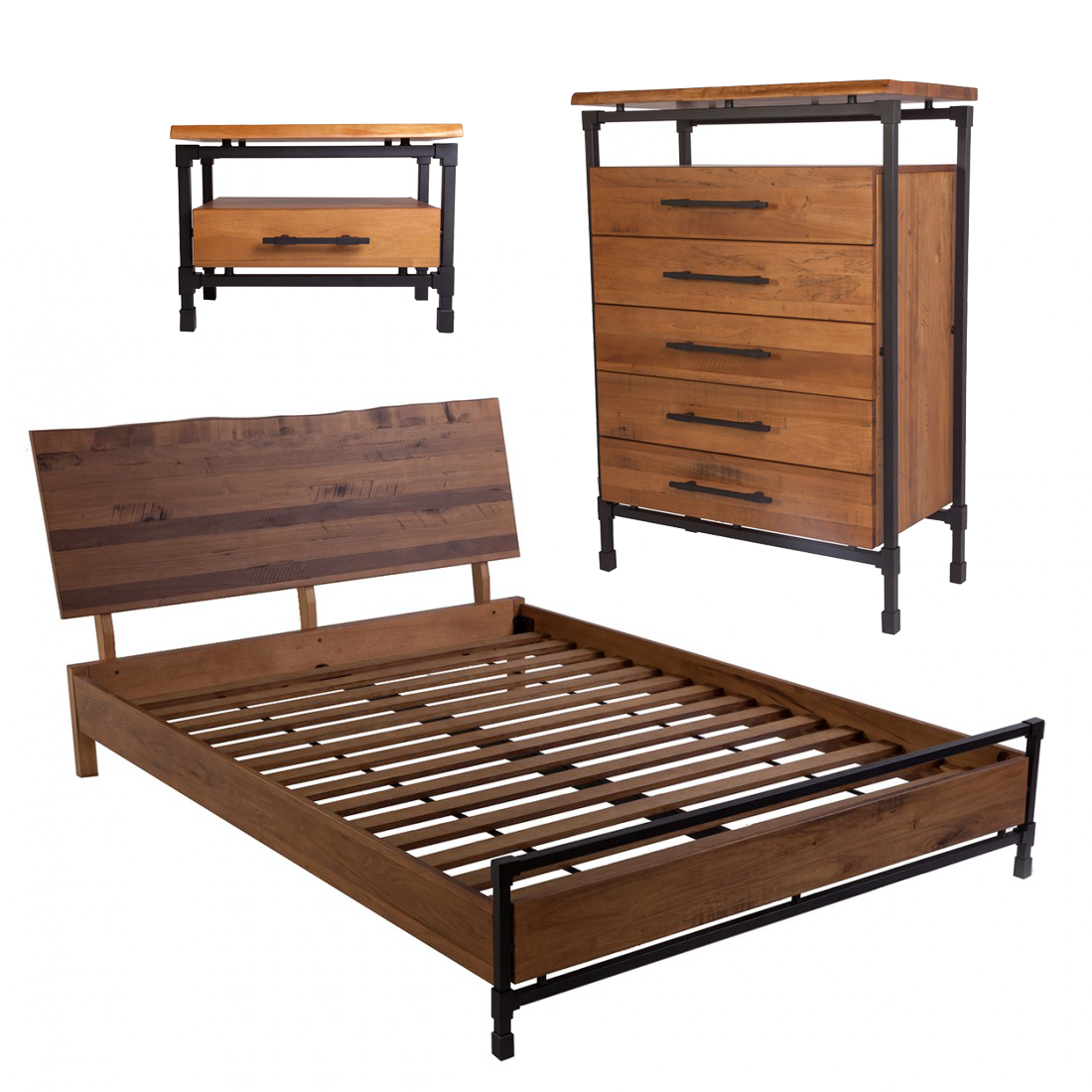 Ingen Bedroom Set - The Ingen Bedroom Set includes a Bed, Dresser ...