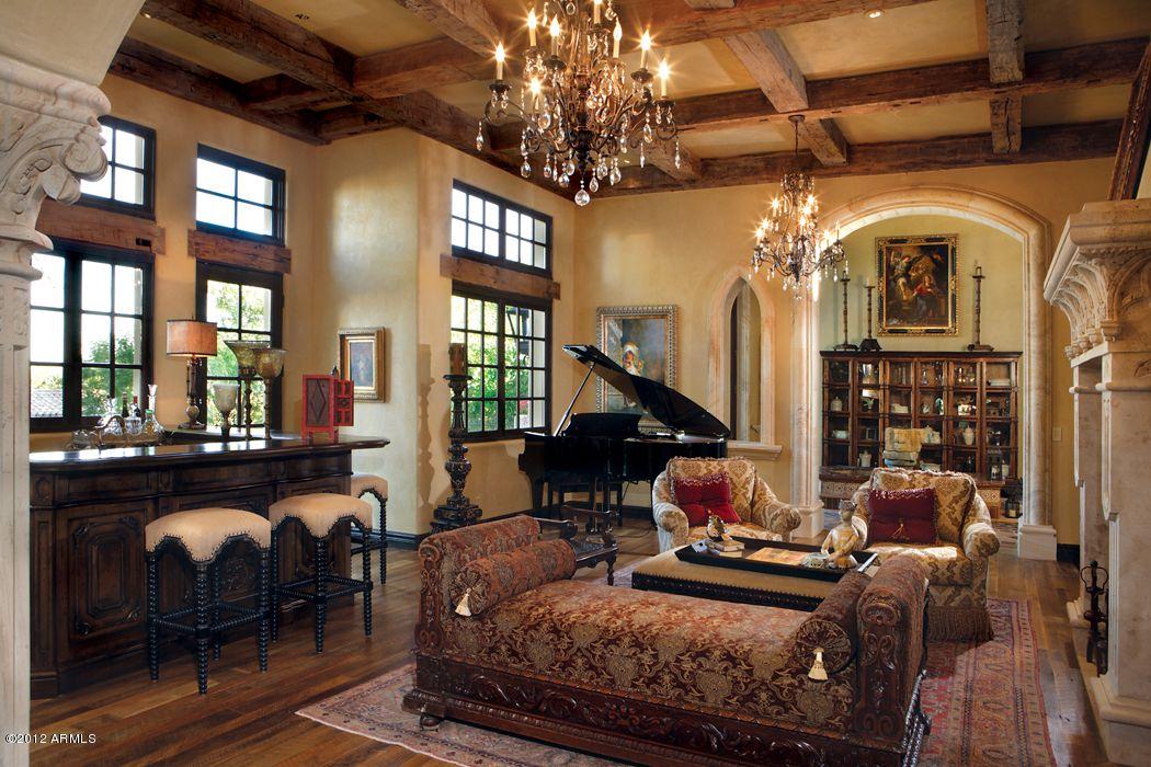 rustic grand victorian living room design | Gothic interior design | Gothic interior, Tuscan design