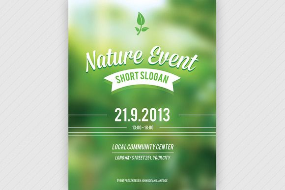 Nature Event Flyer PSD ~ Flyer Templates on Creative Market - event flyer templates