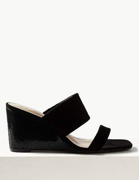 detailing differently speical offer Marks and Spencer Wedge Heel Two Band Sandals | Products in 2019 ...