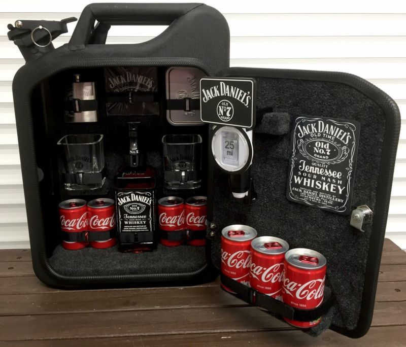 Jack Daniels Jerry Can Mini Bar Grey Goose Vodka Whiskey Camping ...