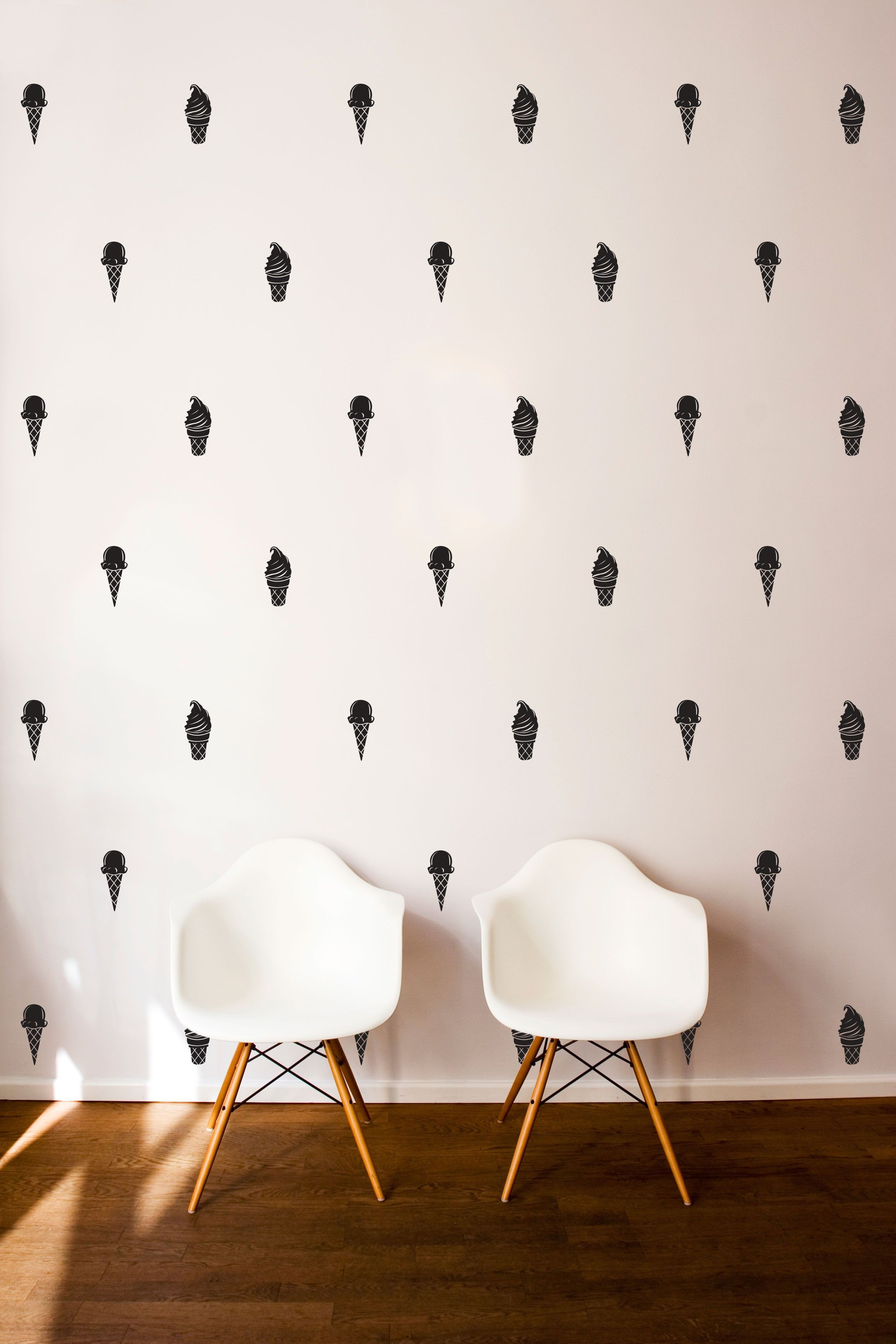Ice Cream Cone Pattern Wall Decal Shop Decals With Images