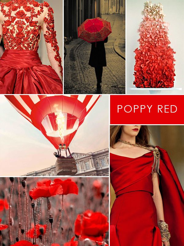 Color In Fashion Design Color Crush Poppy Red Inspiration Board Fashion Designer Jewelry Red Poppies Poppies Color Crush