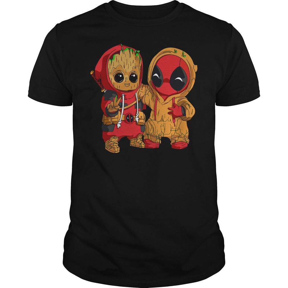 ed531fbbb0b Deadpool and baby Groot shirt