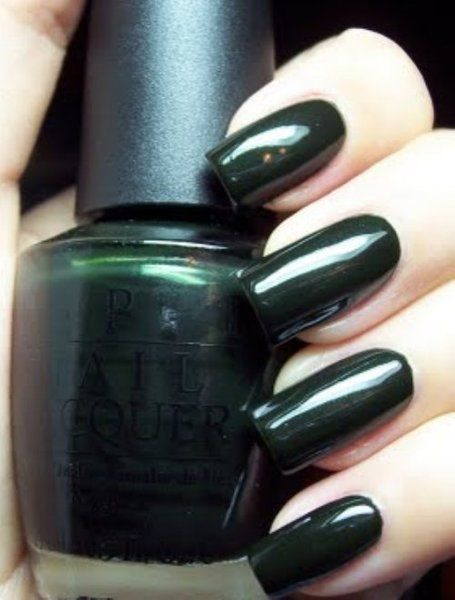 Opi Polish Dark Forest Green Here Today Aragon Tomorrow