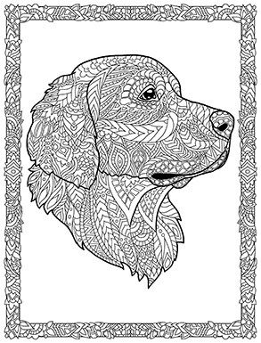 Dog Coloring Pages Zentangle Trend