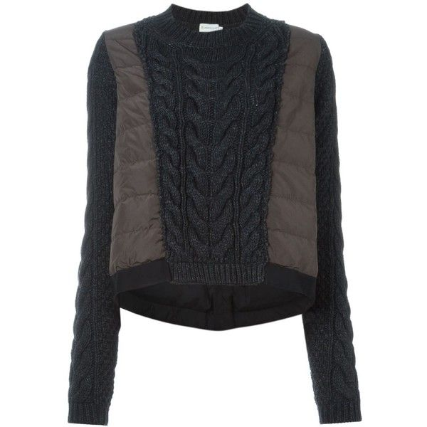 5af5ab26f36a Moncler cable knit padded sweater (€515) ❤ liked on Polyvore ...