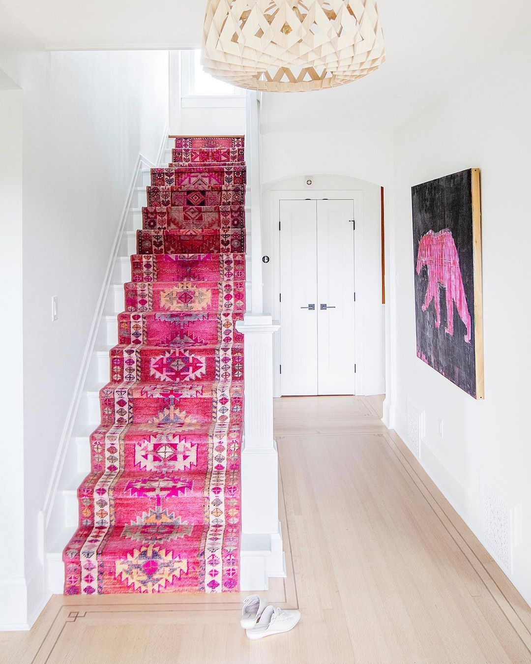 Using Pops Of Colour In Your Home Hallway Decorating Colours Stair Runner Carpet Hallway Decorating