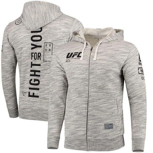 aaefd17f8 UFC Reebok Fan Gear Full-Zip Hoodie - Gray - $74.99   sportswear-隊 ...