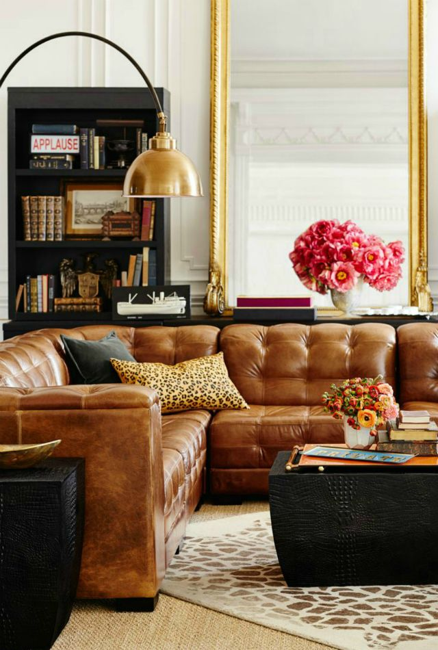 Living Room Inspiration Tan Leather Sofa Wohnzimmer Inspiration