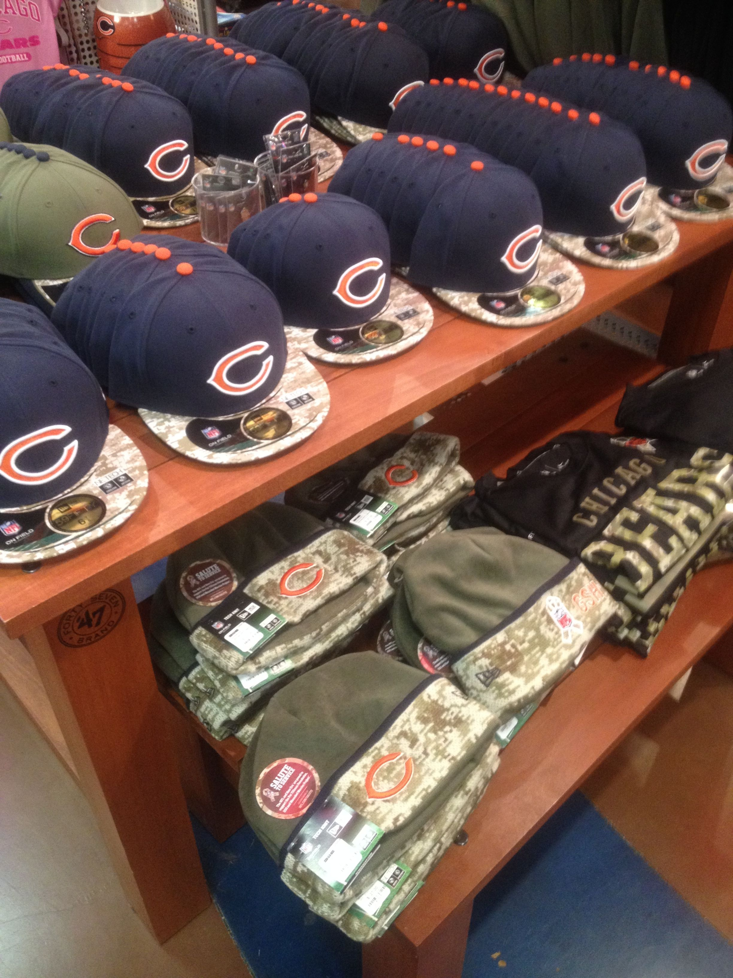 531511882b216d Went to the Chicago Bears Soldier Field today and noticed the NFL military  appreciation in the
