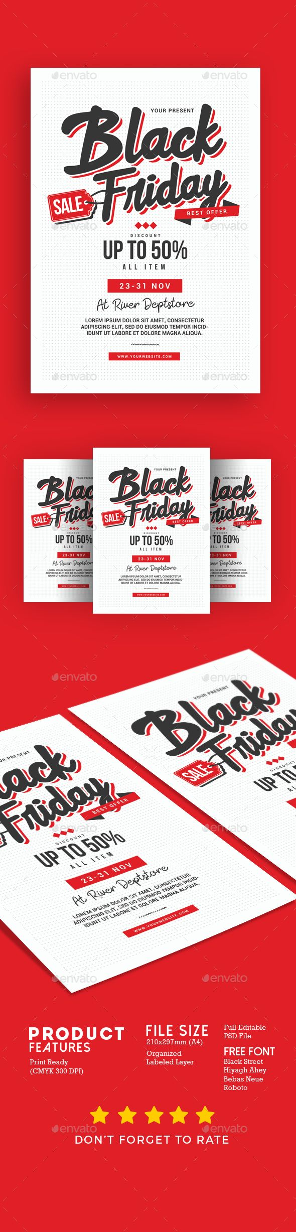 black friday sale flyer template psd download flyer templates