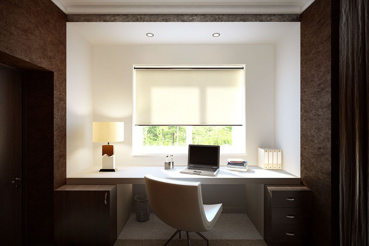 A Room Decorated In Two Distinct Styles | Office spaces, Room ideas ...