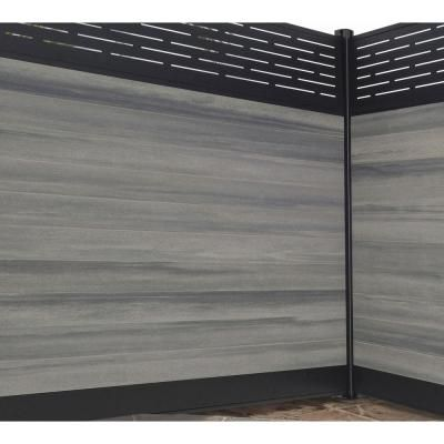 Veranda 0 41 Ft H X 5 91 Ft W Euro Style Oxford Grey Tongue And Groove Composite Fence Board Ef 00200 A The Home Depot In 2020 Modern Fence Design Fence Panels Fence Design