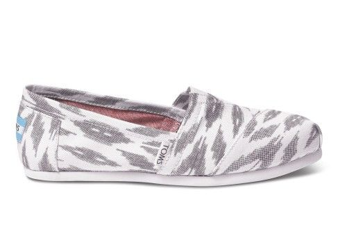 I need these! Grey Ikat Women's Vegan Classics | TOMS.com #toms